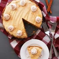 Allergy-friendly Pumpkin Mousse Pie (Gluten, dairy, egg, peanut & tree nut free; vegan)