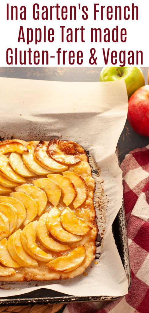 Ina Garten's French Apple Tart made gluten-free and vegan by Allergy Awesomeness
