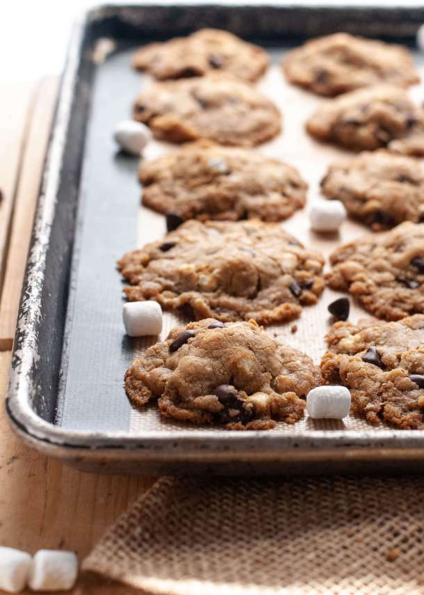 egg-free-smores-cookies