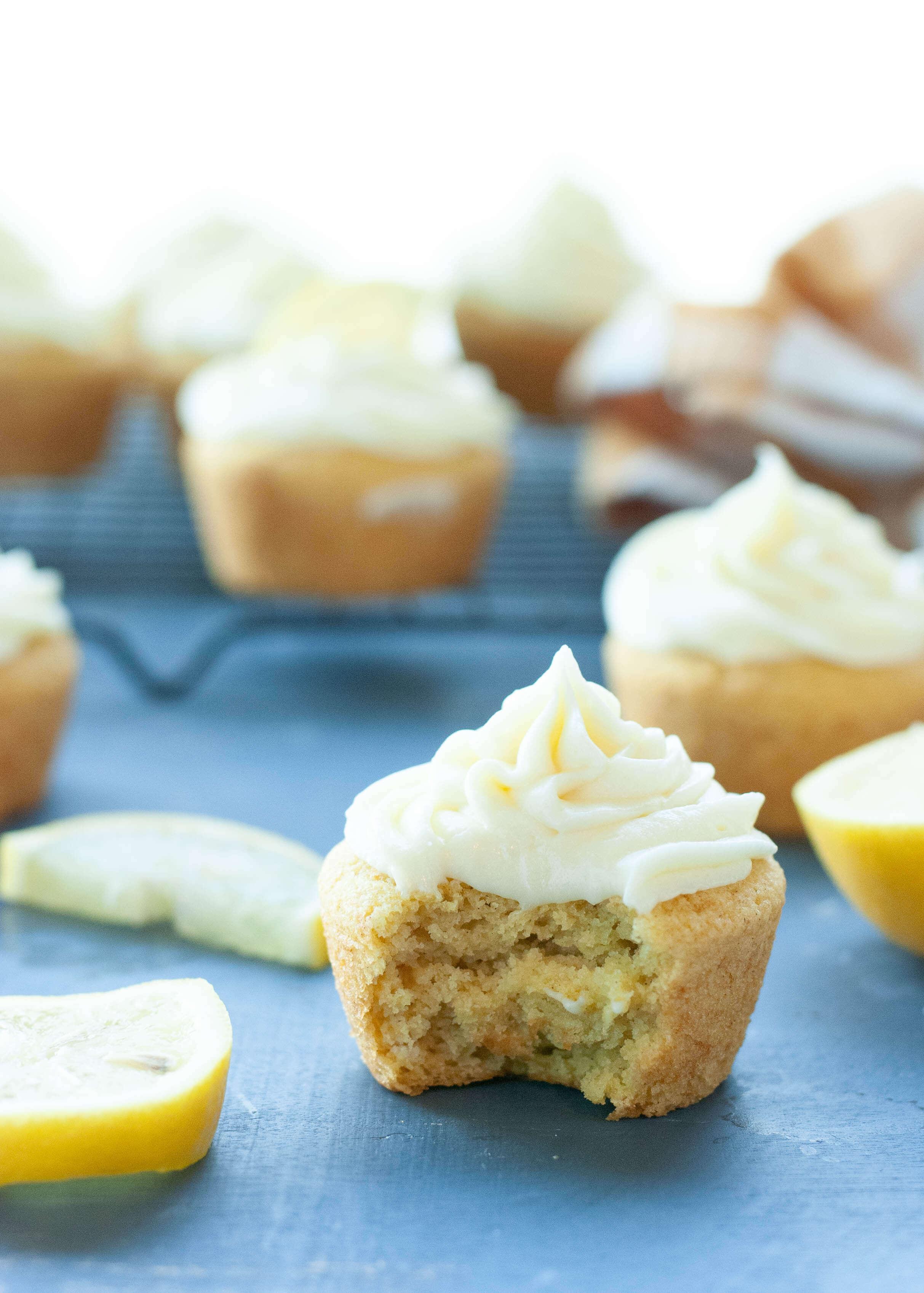 Gluten Free Vegan 3 Ingredient Lemon Cupcakes With Lemon Cream Cheese Frosting