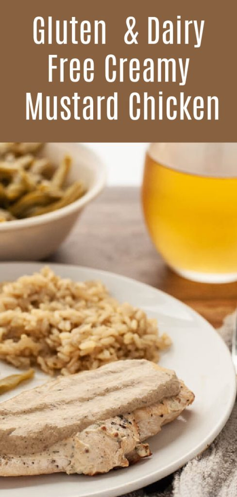 gluten & dairy free creamy mustard chicken recipe by allergy awesomeness