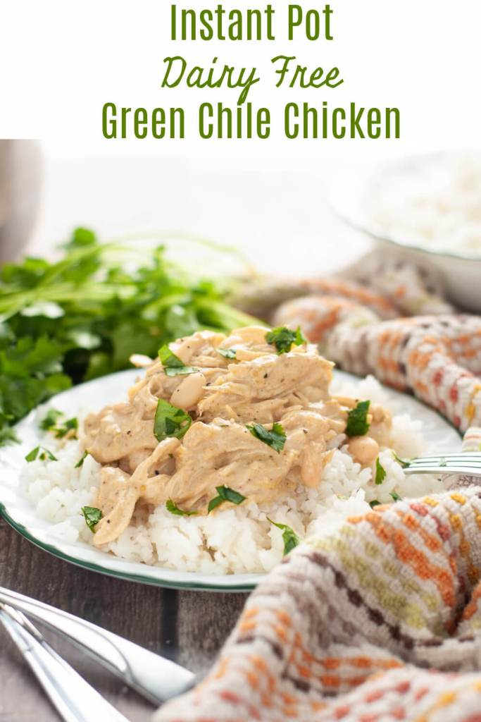 Instant Pot Dairy Free Green Chile Chicken Recipe by Allergy Awesomeness