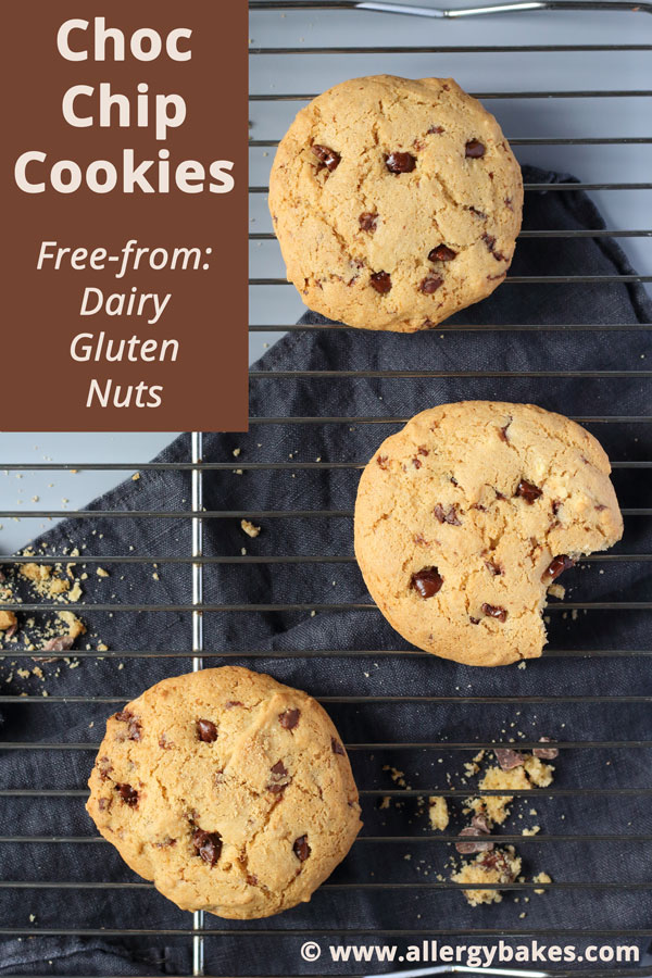 Easy Choc Chip Cookies   Dairy-free & Gluten-free & Nut-free