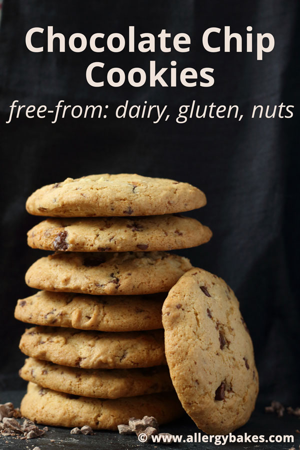 Chocolate Chip Cookies | Free-From: Dairy, Gluten, Nuts