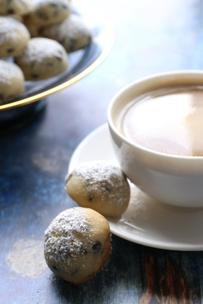 Shortbread cookies rolled up in perfect bite-size, vegan treats