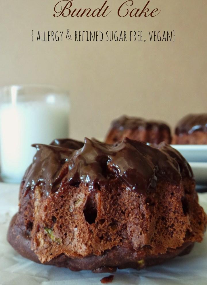 Chocolate Zucchini Bundt Cake with Ganache
