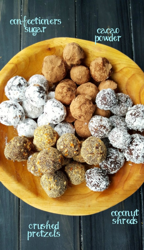Assorted toppings of choice add the extra dimension of flavor & texture to these already amazing, easy to make Truffles. Allergy-friendly, Vegan