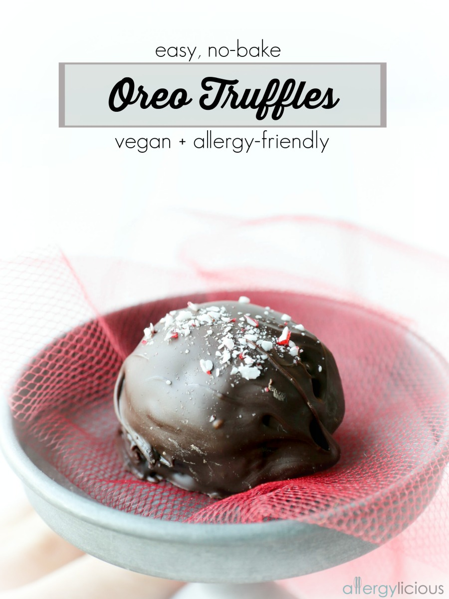 Easy & Delicious, 3 Ingredient, Oreo Truffles. Vegan, Gluten free & Nut free.