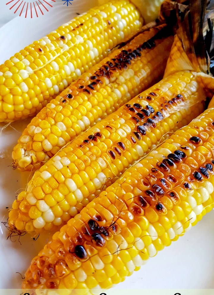 Grilled Corn with Sriracha Mayo