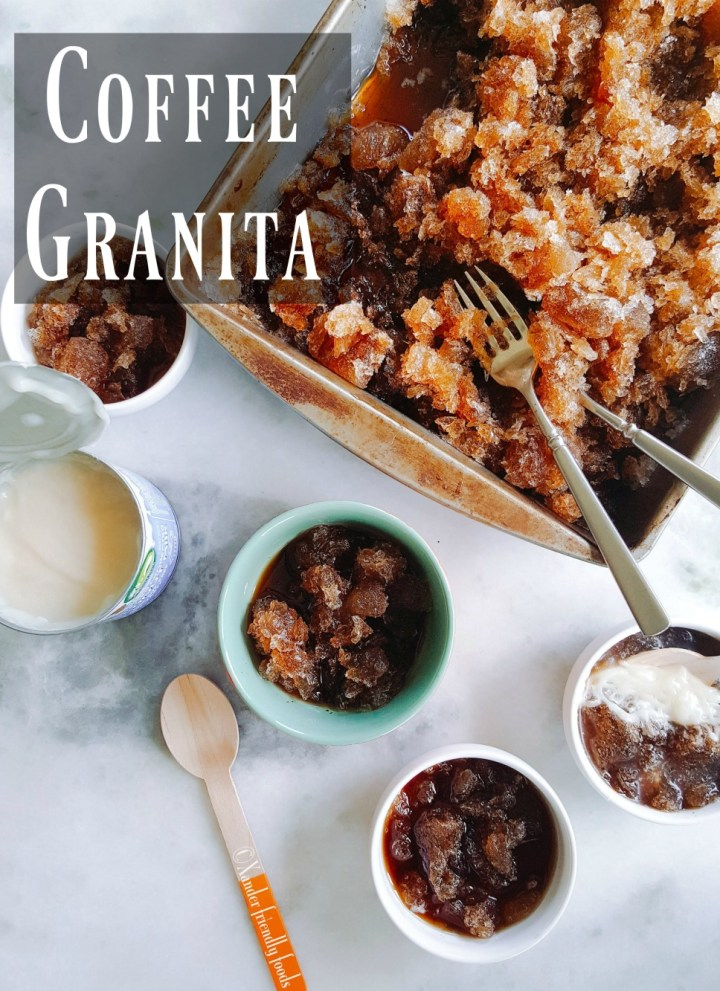 Coffee Granita with Sweetened Condensed Coconut Cream