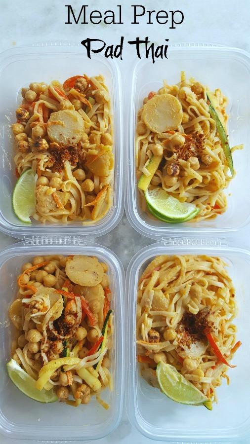 Easy meal prep vegan pad thai