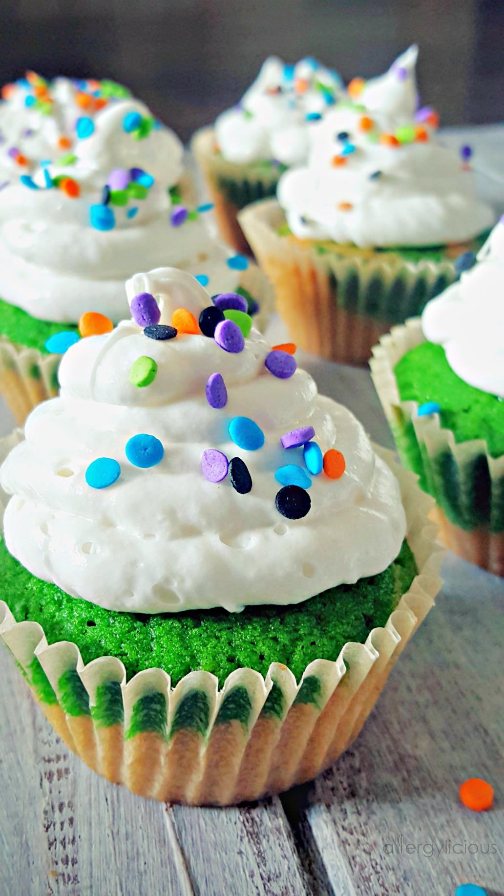 Light & Fluffy Vanilla cupcakes made with Aquafaba