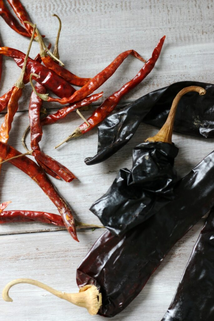 Dried peppers for an amazing Red Chile Tamale