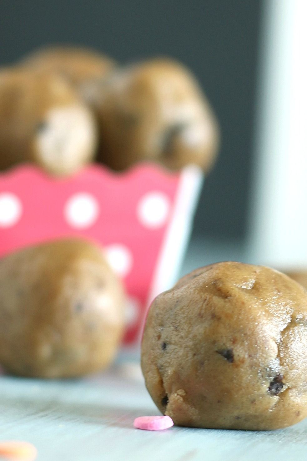 Raw, allergy-friendly cookie dough bites because we know everyone likes licking the bowl.