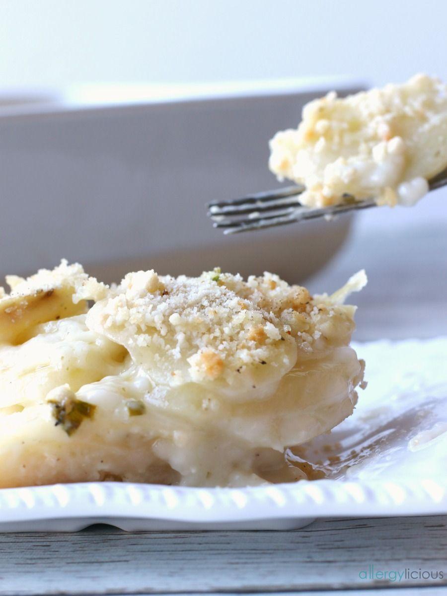 Potato Au Gratin on plate
