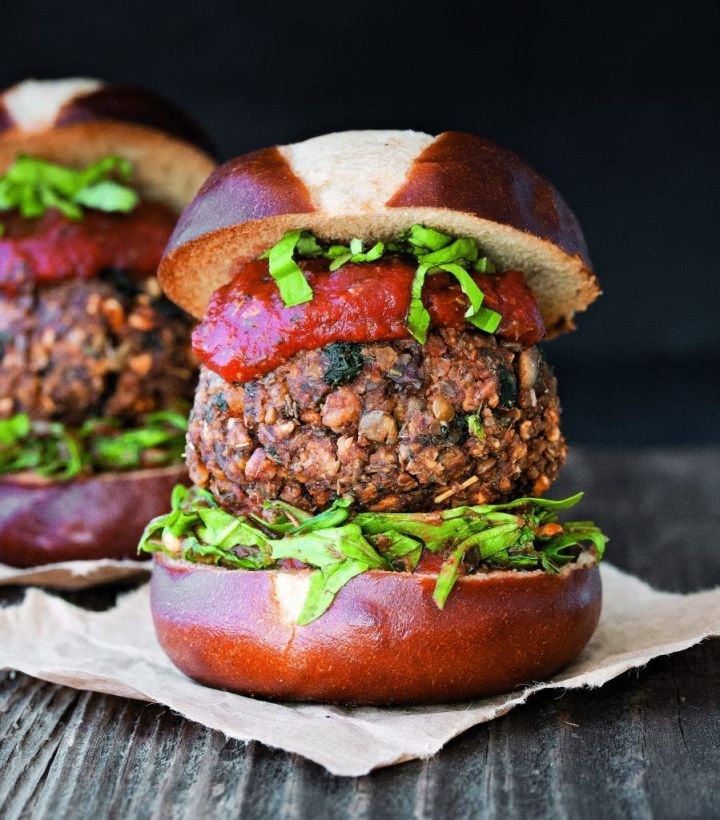 Ultimate Vegan Meatball Burger