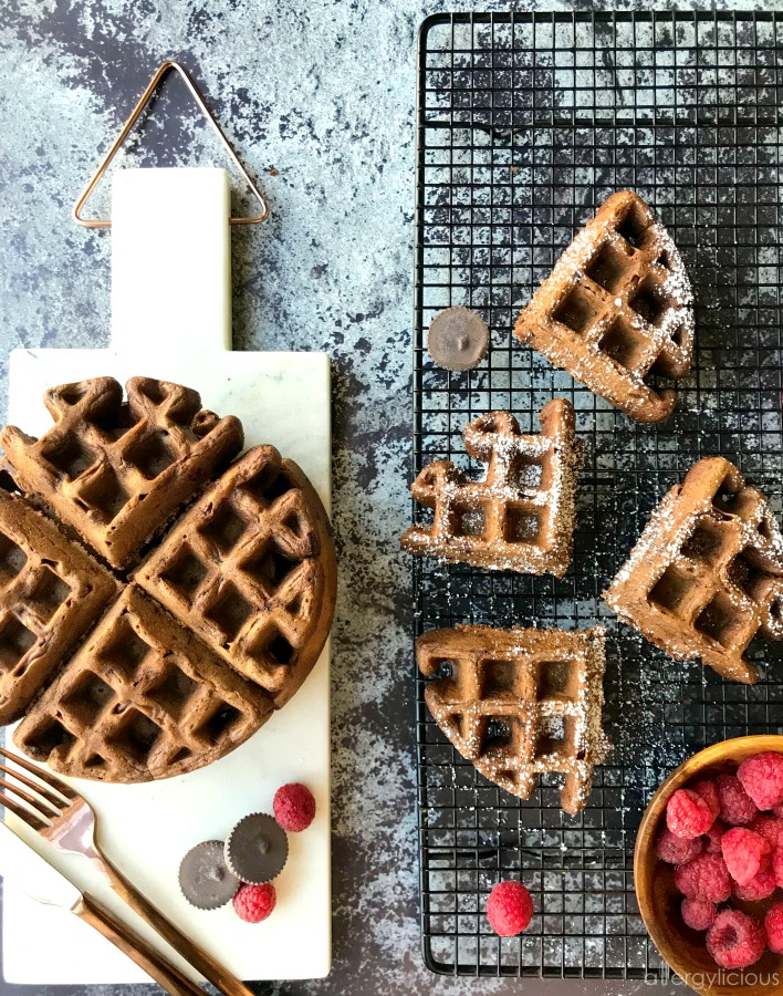 Double Chocolate Waffles {vegan + gluten free}