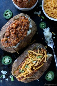 Vegan sloppy joe stuffed potatoes is simply a comfort food classic made without the junk!