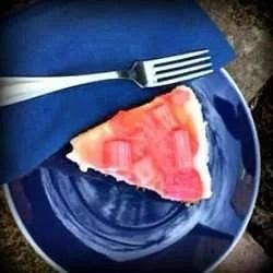 Vegan Rhubarb and Ginger Cheesecake