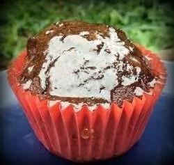 Vegan Chocolate Cupcake with Toffee Sauce