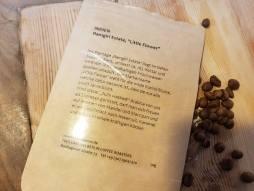 Adventskalender mit Kaffeebohnen LittleFlower Rückseite