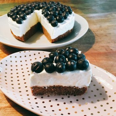 Low Carb Blueberry Torte