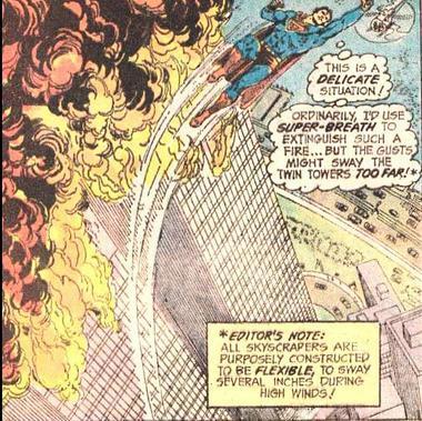 1973 - Superman kann das Feuer der Twin Towers nicht auspusten