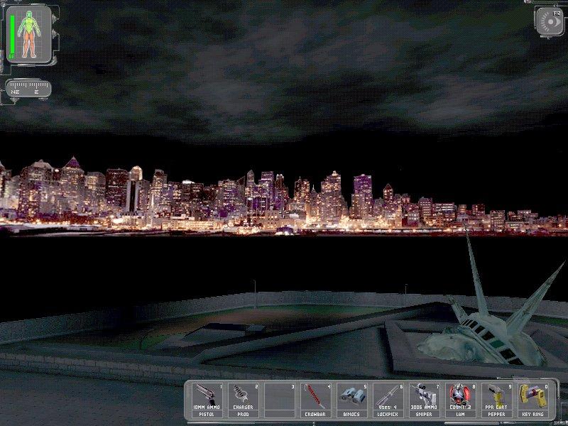 2000 - In dem Computerspiel Deus Ex sieht man die New Yorker Skyline ohne die Twin Towers. Die Erklärung bringt das Spiel gleich selber mit: sie wurden durch einen Terroranschlag vernichtet.
