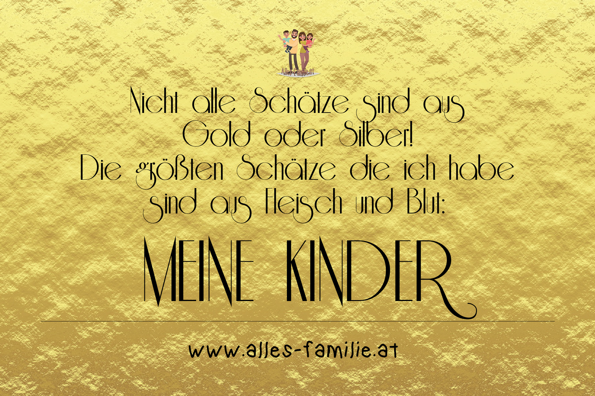 Gold und Silber Kinder