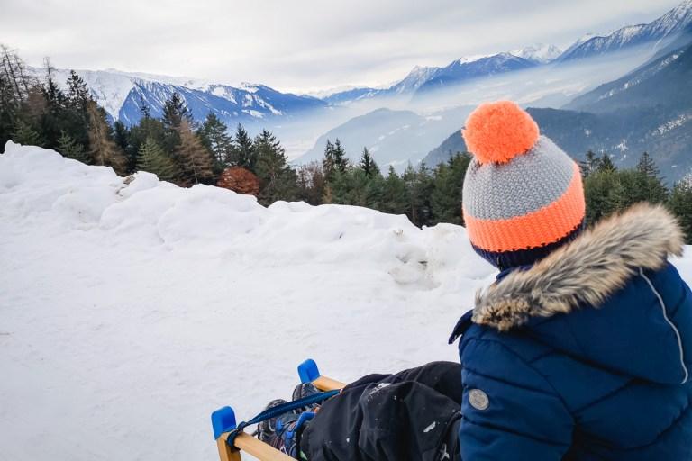 Ropferstubn im Winter – Rodeln und spazieren mit Pferden