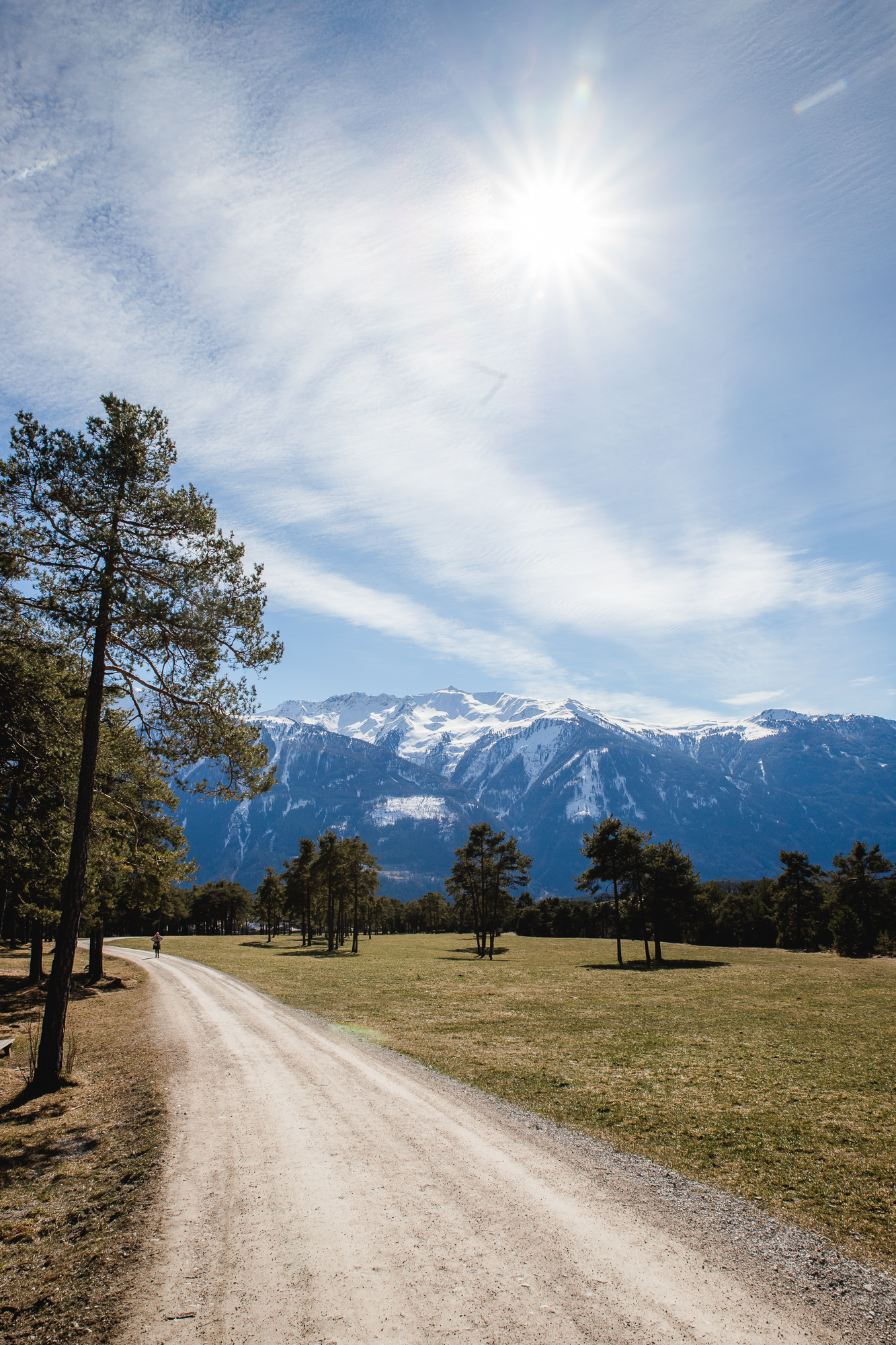 Blick Richtung Tal in Mieming