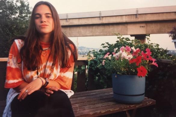 Zeitreise in meine Jugend - ich im 90er Look