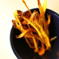 Curry Möhren Chips {curried carrot chips}