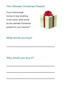 11 The Ultimate Christmas Present