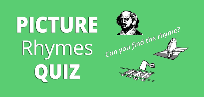 picture rhymes quiz