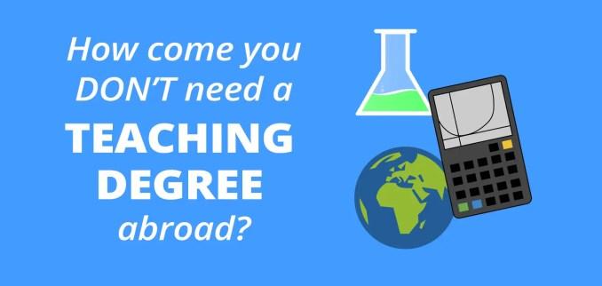 teaching degree abroad