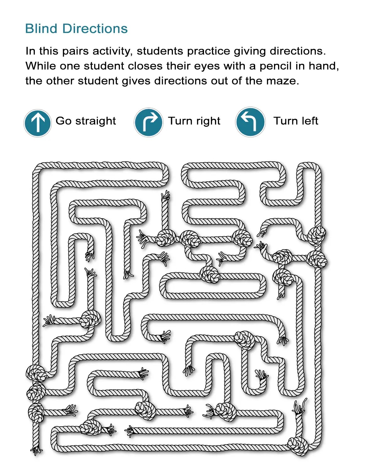 Maze Directions Worksheet Can You Advance Through The