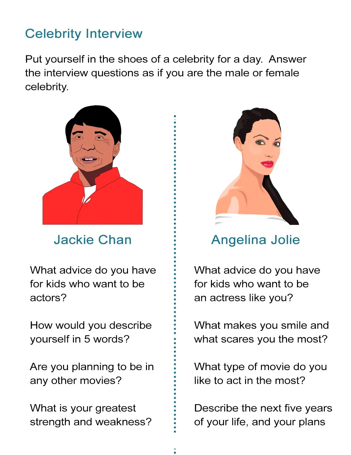 Celebrity Interview Questions And Answers