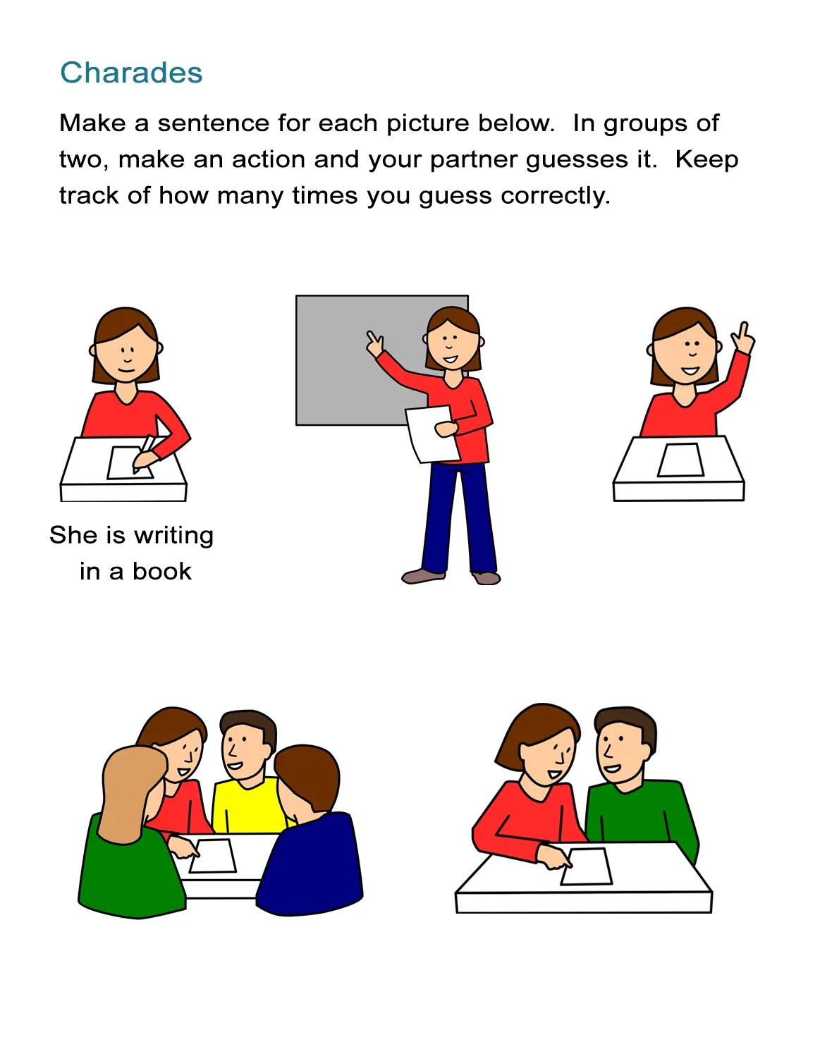 Preschool Worksheet Action Words
