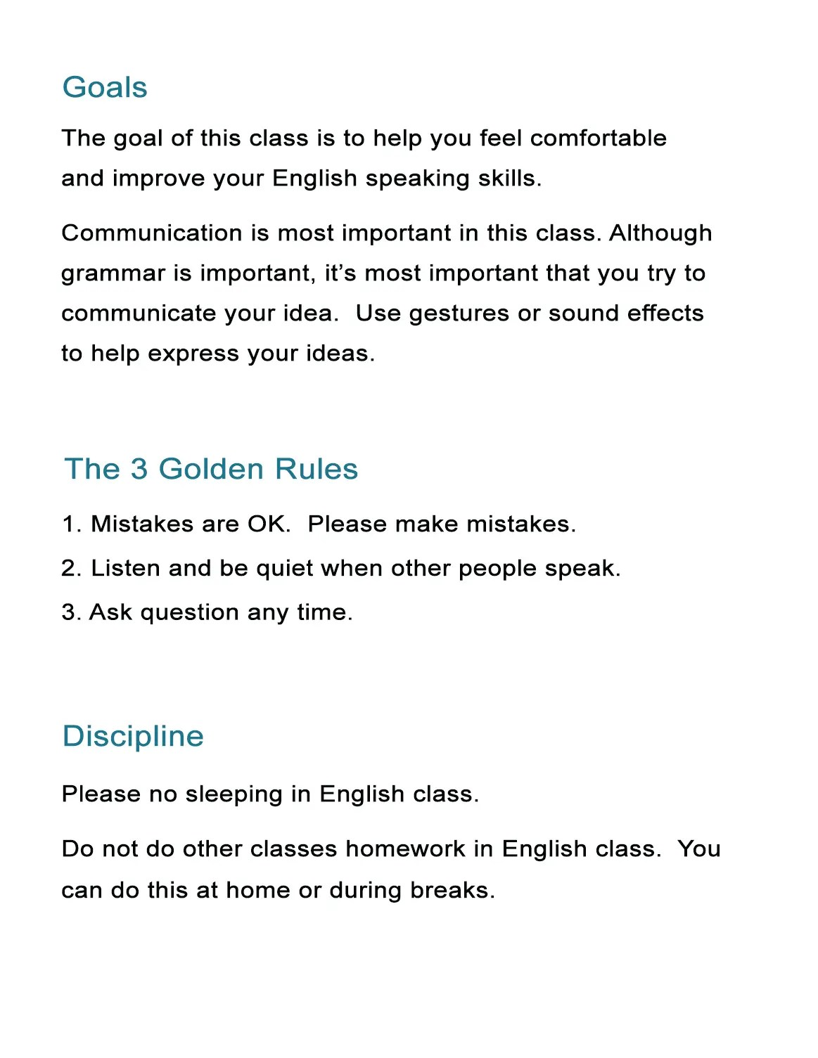 Your First Class Abroad How To Set Rules Goals And Discipline