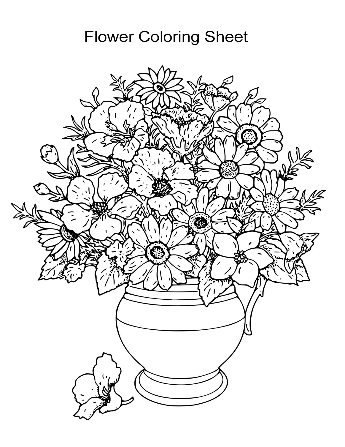 10 Flower Coloring Sheets For Girls And Boys