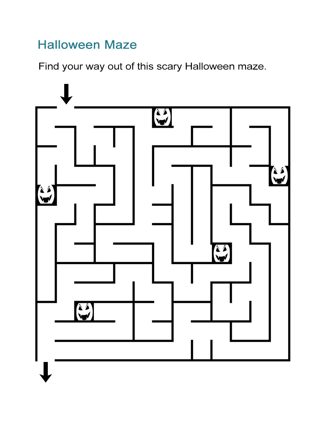 Halloween Maze Printable