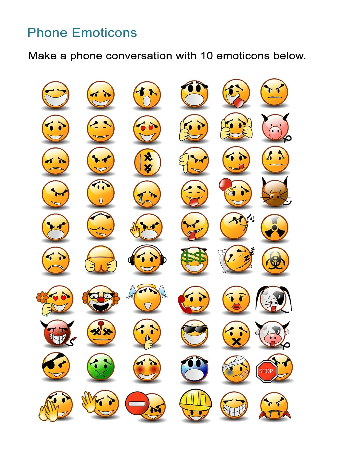 Adjectives That Describe Me Phone Emoticon Emotions