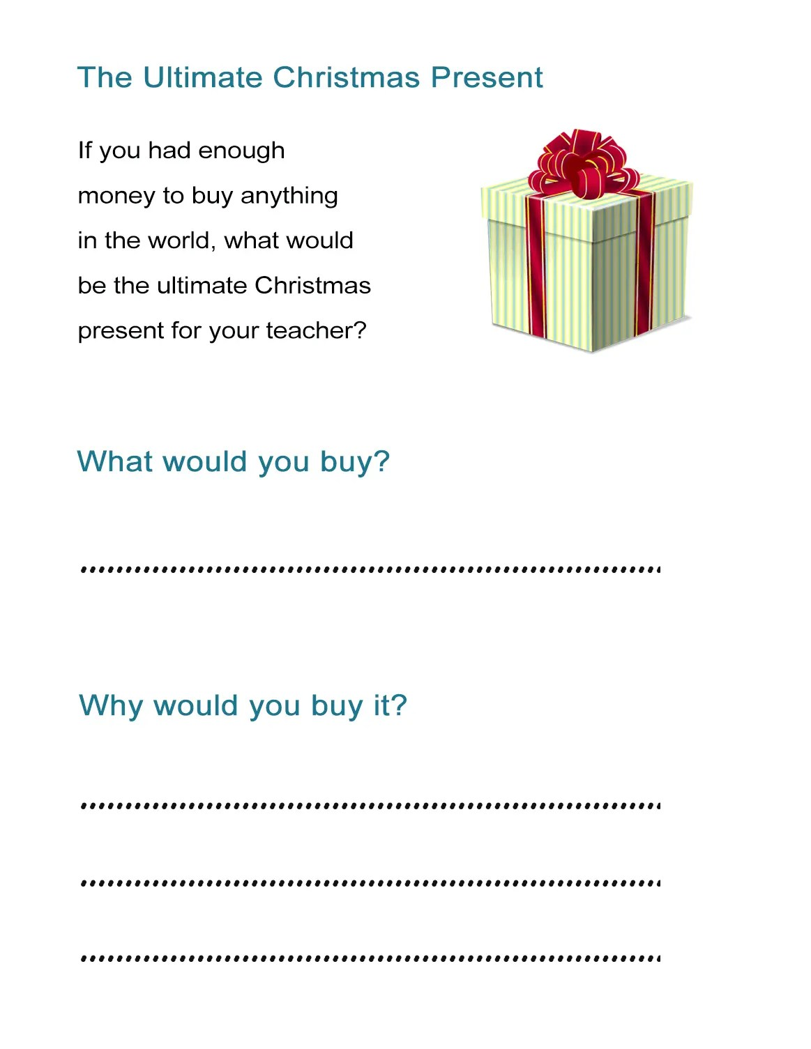 The Ultimate Christmas Present What Would You Buy Your