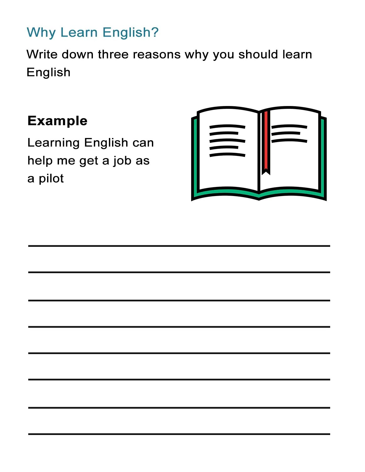 Why Learn English Worksheet On The Benefits Of Learning English
