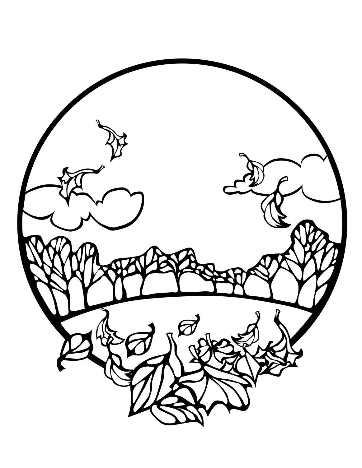 5 Fall Coloring Sheets Autumn Season Coloring Pages