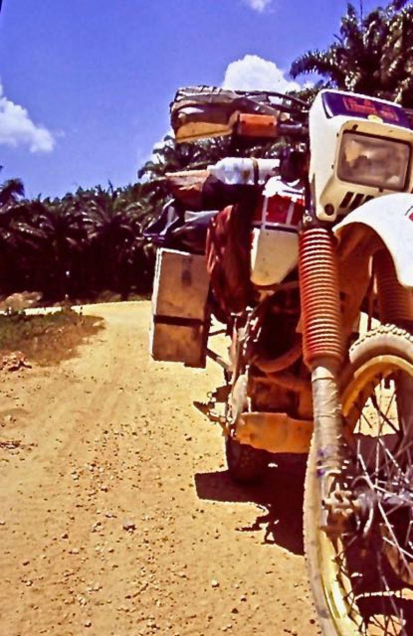 motorfiets met bagage