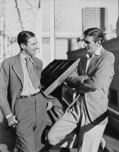Cecil Beaton and Gary Cooper, some time in the 1930s.