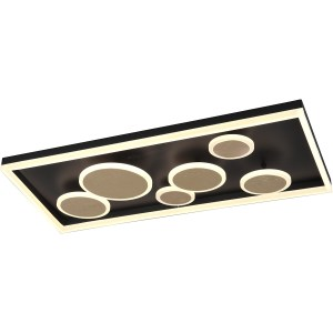 LED Plafondlamp - Plafondverlichting - Trion Horry - 45W - Aanpasbare Kleur - Rechthoek - Mat Goud - Aluminium