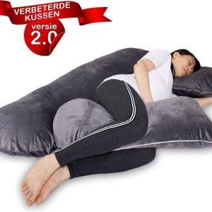 Meryals Snuggyme 2.0 - Zwangerschapskussen XXL - Voedingskussen - Zwangerschap - Body Pillow - Zijslaapkussen - Lichaamskussen